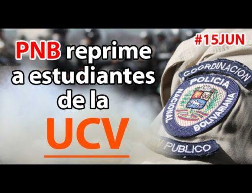PNB reprimió protesta de estudiantes de la UCV por la inseguridad