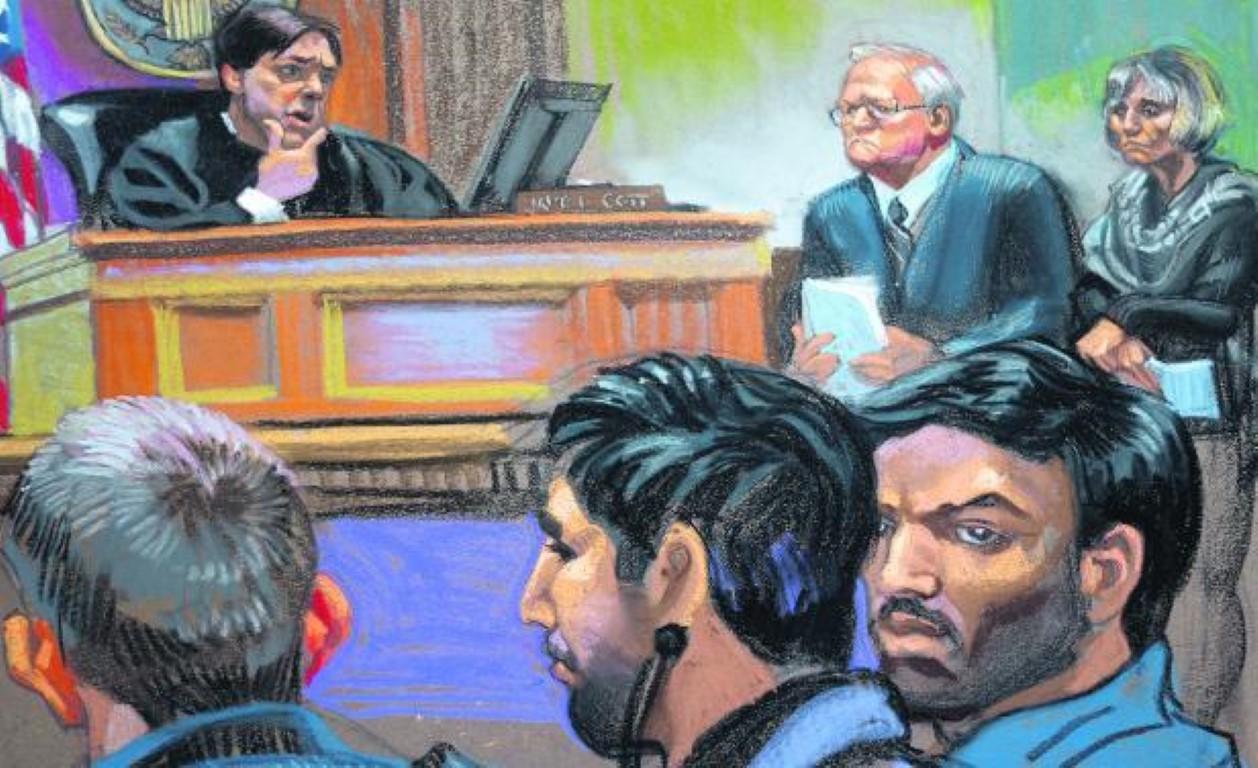 Ilustración de los sobrinos presidenciales en su juicio