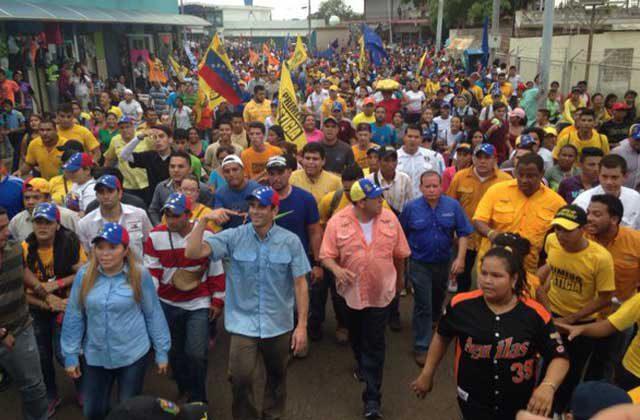 Capriles en su visita a Maracaibo