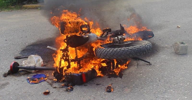 moto-quemada