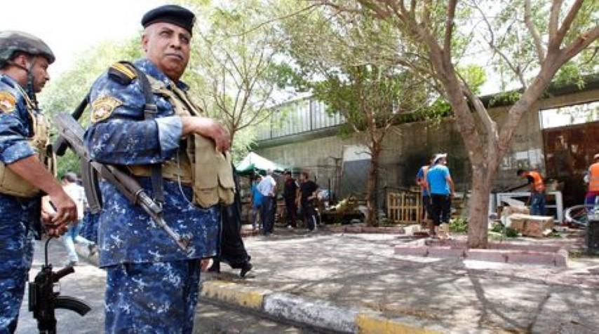 Las fuerzas de seguridad iraquíes en la escena del atentado | Foto: AFP