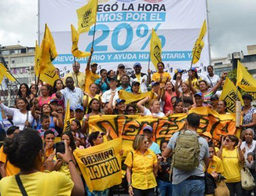 Primero Justicia permanecerá en la calle junto al pueblo hasta recuperar la democracia