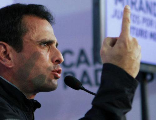 """Capriles respondió a descalificaciones de Pedro Carreño: """"Que hablen de trabajo es el chiste del año"""""""