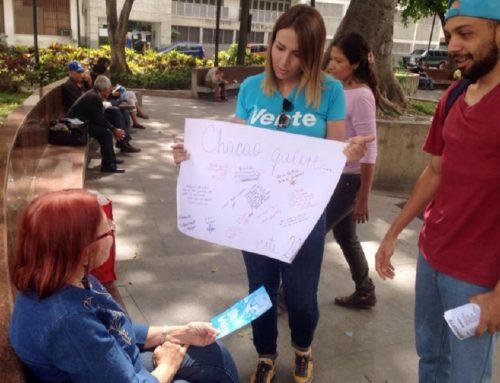 """Bajo el lema """"Chacao quiere"""", ciudadanos exigen libertad"""